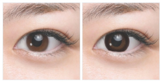 SEED Heroine Make Lens Before After