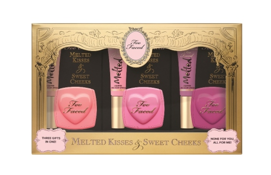 Too Faced Melted Kisses & Sweet Cheeks, $50 - resized